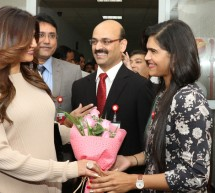 Bollywood Celebrity and Former Miss Universe Sushmitha Sen Meets & Greets Patients at Thumbay Hospital Ajman