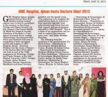 GMC Hospital, Ajman hosts Doctors Meet 2012