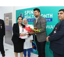 Cricketer Suresh Raina Launches 'Spinal Health Month' at Thumbay Hospital Dubai amid Cheering Crowd of Fans
