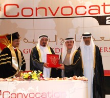 Member of Supreme Council and Ruler of Ajman, UAE awards degree certificates to Gulf Medical University graduates on the eve of Seventh Convocation Ceremony held on 23rd of January, 2011.