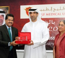 His Excellency   Dr. Hanif Hassan Ali Al Qassim, Minister of Health, U.A.E. along with His Excellency           Dr. Amin Hussain Al Amiri, C.E.O for Medical Practice & Licence, Ministry of Health, U.A.E. visits Gulf Medical University (GMU), Ajman-U.A.E.