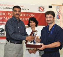 Interventional Pain Management Workshop held at Gulf Medical University, Ajman, U.A.E.