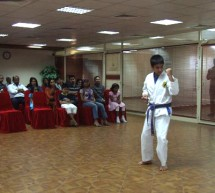 Karate students of Body & Soul Health Club in conjunction with the United Karate Centre conducted demonstration in front of parents and guests.