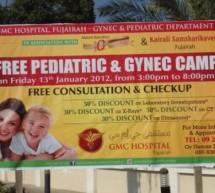 Free Pediatric and Gynec Camp held by GMC Hospital, Fujairah in collaboration with Abbot Nutrition and Kairali Samskarikavedi – Fujairah.