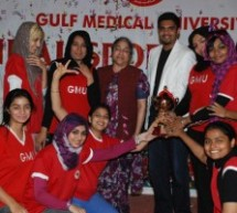 9th Annual Gulf Medical University Sports Festival – 2010 concludes with over fifty trophies presented.