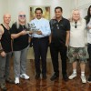 Legendary British Band Uriah Heep Visits Gulf Medical University Prior to Dubai Live Show
