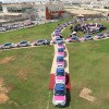 Hundreds of Taxis unite at Thumbay Hospitals in Dubai, Ajman and Fujairah to form pink ribbon, raise awareness on breast cancer!