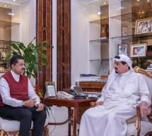 His Highness Sheikh Humaid Bin Rashid Al Nuaimi Receives Ajman-based Businessman Dr. ThumbayMoideen