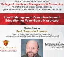 Gulf Medical University and University of Central Florida Announce Master Class on 'Health Management Competencies and Education for Value-Based Healthcare'