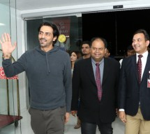 Bollywood Actor Arjun Rampal Meets and Greets Fans at Thumbay Hospital Dubai