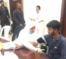 Thumbay Clinic Ajman Conducts Free Health Camp at Gulf Steel Industries