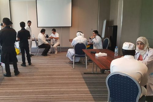 Free health camp at Centro Sharjah Hotel