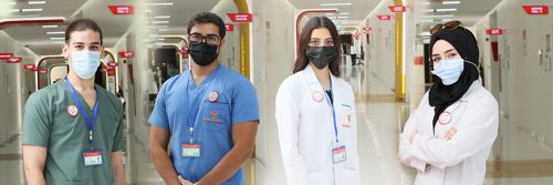 """The first batch of 50 Trained COVID-19 """"Safety Officers"""" completed their training from Gulf Medical University in the face of the COVID 19 pandemic"""