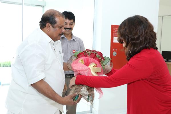 Kerala MLA PC George visits Gulf Medical University