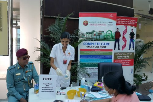 Free Health Check up Camp at Ajman Traffic Police Department