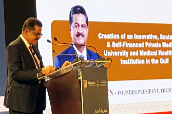 founder of Thumbay group delivers keynote address on healthcare sector