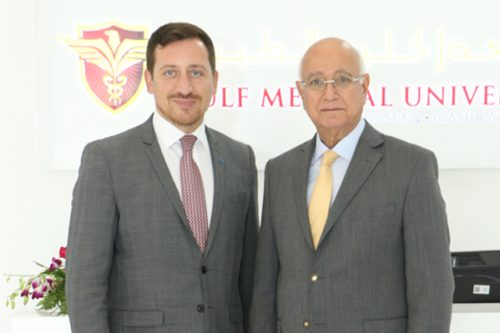 French Regional Counselor for Health – Middle East, Guillaume Huart Visits Gulf Medical University – Ajman