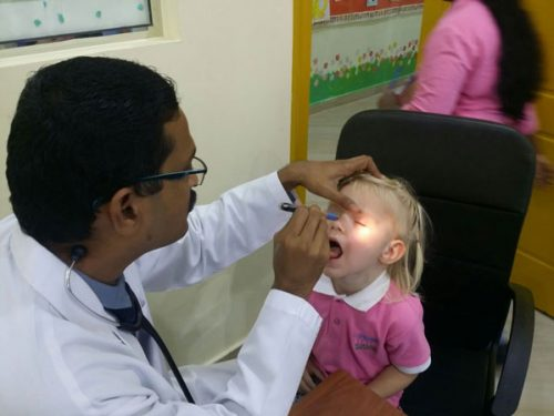 Thumbay Clinic RAK monthly visit to Chubby Cheeks Nursery