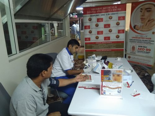 Thumbay Medical & Dental Specialty Centre Sharjah Organized Health Awareness Event at Al Madina Shopping Mall from 5th to 7th September 2019