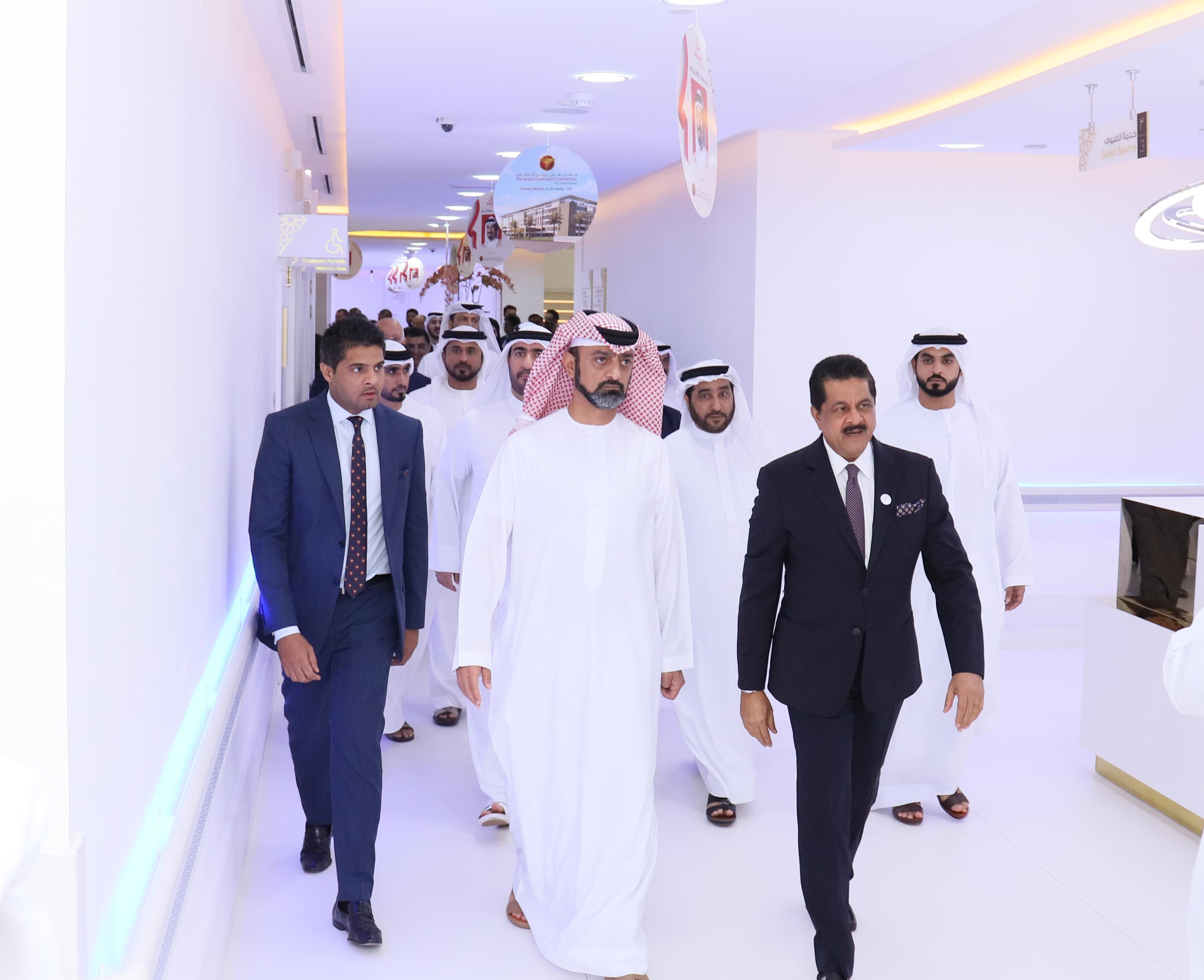 His Highness Sheikh Ammar bin Humaid Al Nuaimi Inaugurates Thumbay University Hospital at Thumbay Medicity Ajman