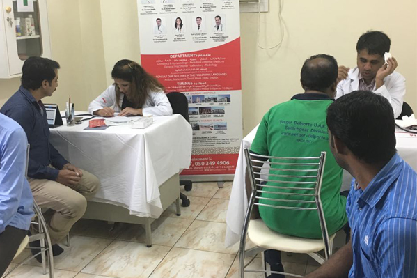 Thumbay Clinic Sharjah Organizes Free Medical Camp at Verger