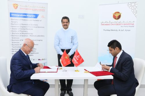 Gulf Medical University Signs Agreement with Thumbay University Hospital to Implement International Standards of Academic Health Centers