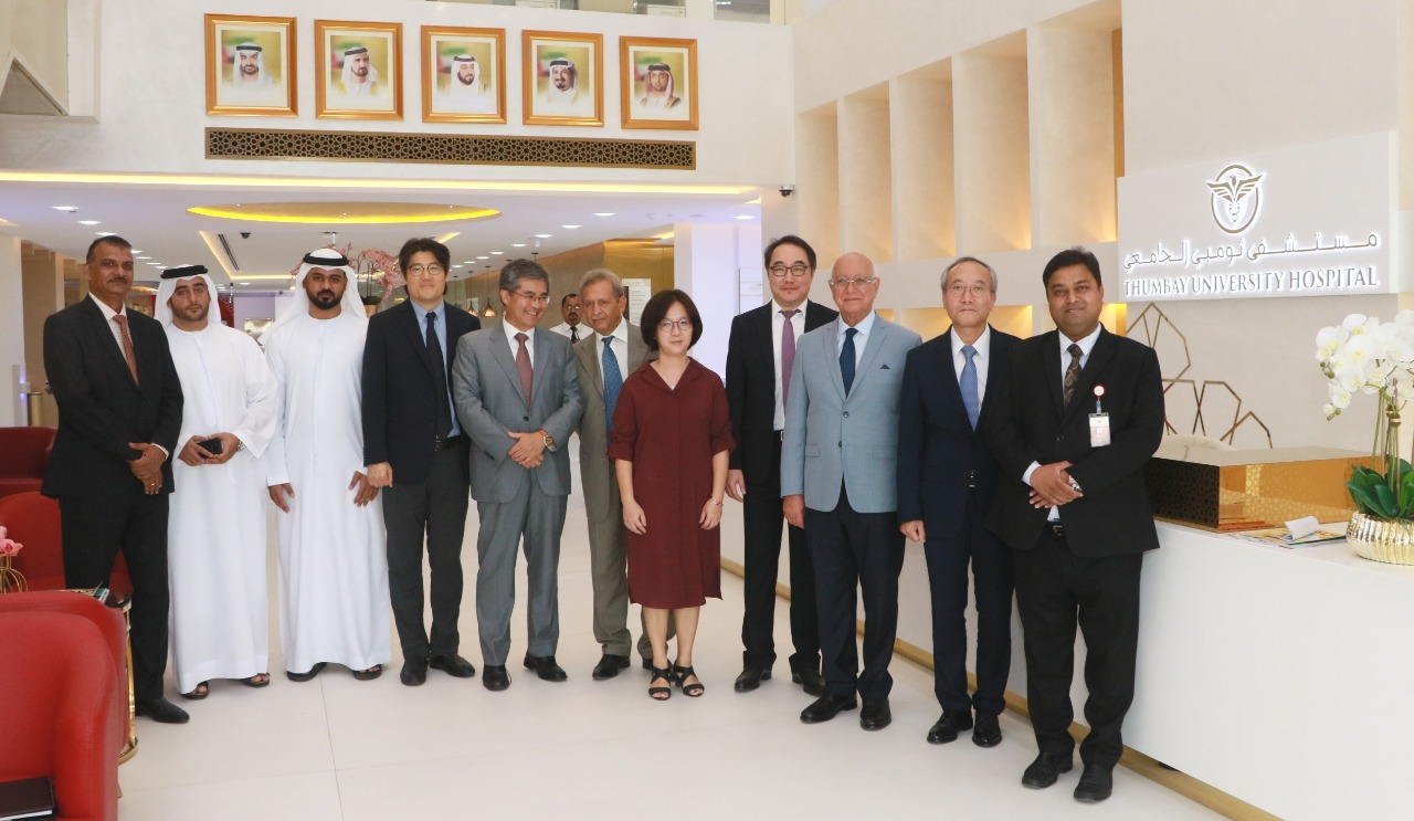 Delegation From Sheikh Khalifa Specialty Hospital Ras Al Khaimah Visits Gulf Medical University To Strengthen Collaboration In Healthcare Research Education Thumbay Medicity