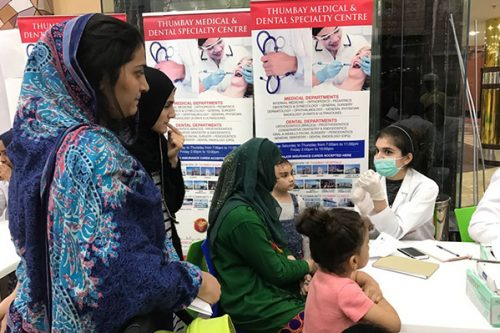 Thumbay Medical & Dental Specialty Centre Conducts 'Dental Screening & Health Checkup Camp' at Ramez Mall Sharjah
