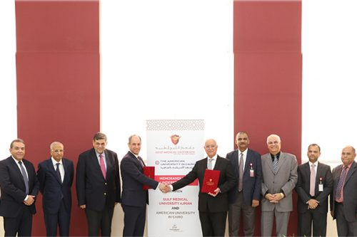 Gulf Medical University Inks Strategic Agreement with American University in Cairo to Enhance Cooperation