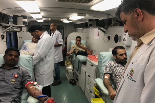 Thumbay Hospital Conducts Blood Donation Camp in Ajman