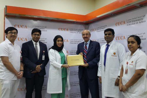 Thumbay Hospital Conducts Health Checkup Camp at CUCA Ajman