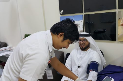 humbay Hospital Day Care Conducts Health Checkup Camp at Ministry of Social Affairs Sharjah