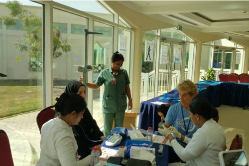 Thumbay Hospital Day Care – University City Road, Sharjah conducted a Diabetic Awareness Camp at Sharjah Men's College