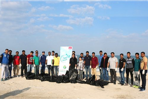 Thumbay Pharmacy organized a beach clean-up drive SAVE OUR BEACH at Al Zorah Beach Ajman